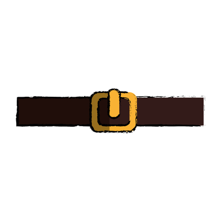 Belt isolated icon Illustration