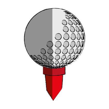 Golf sport ball isolated