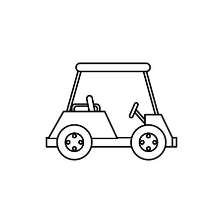 Golfkar geïsoleerd pictogram