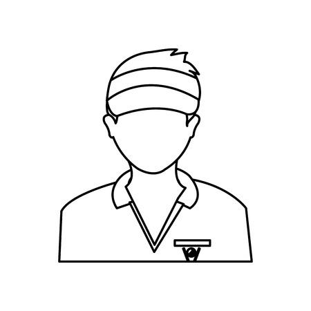 Golf player avatar icon