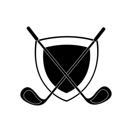 golf club isolated icon vector illustration design