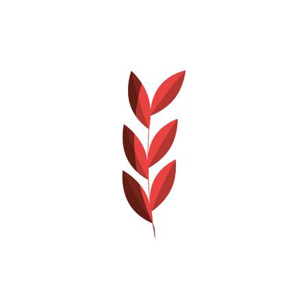cute leafs decorative icon vector illustration design Illustration