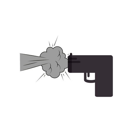 gun shoot comic art icon vector illustration design Illustration
