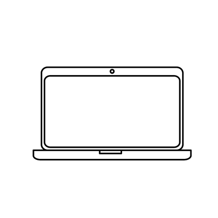 lcd: Cool illustration of a computer laptop isolated icon vector illustration design