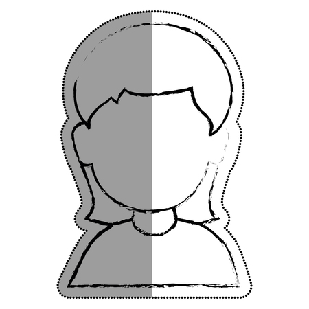 young woman avatar character vector illustration design Illustration