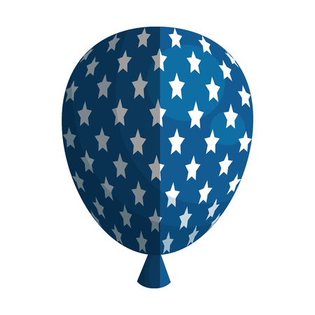 federal election: balloon air with stars vector illustration design