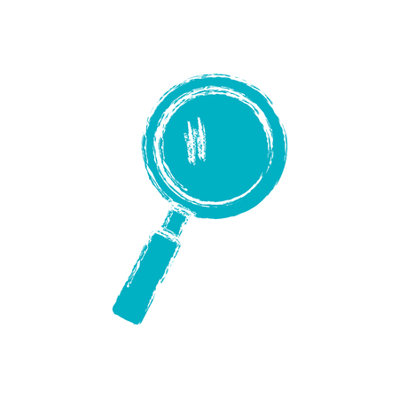 icons site search: magnifying glass icon over white background. vector illustration