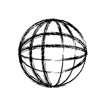 global sphere icon over white background. vector illustration