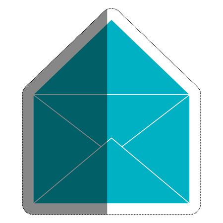 envelope icon over white background. vector illustration