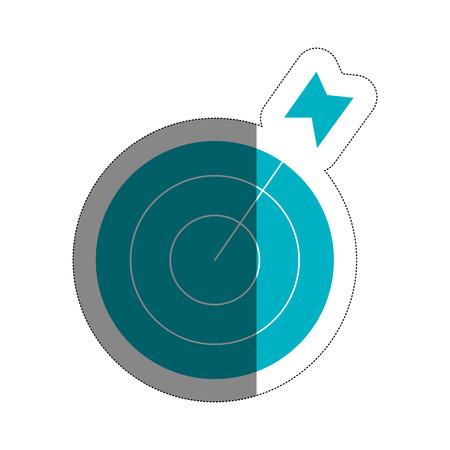 target icon over white background. vector illustration Illustration