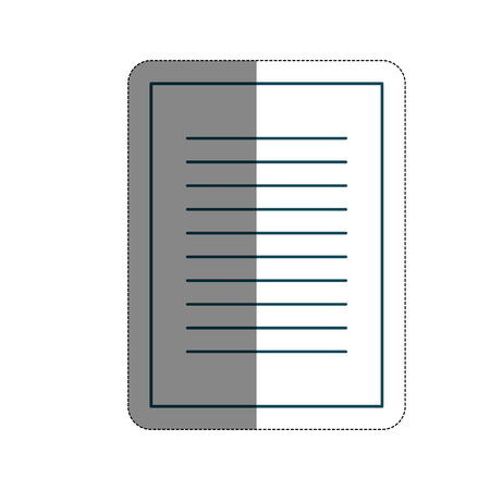 document page icon over white backgroun vector