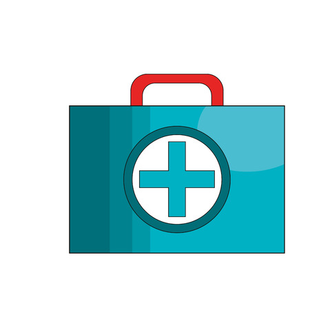 firstaid: first aid box icon over white background. vector illustration
