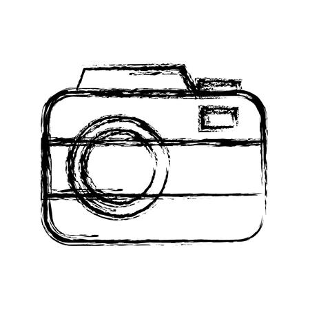 photographic camera icon over white background. vector illustration