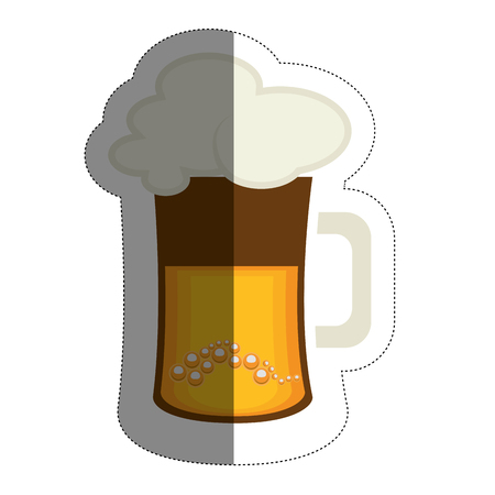 Beer jar icon over white background. colorful design. Vector illustration.