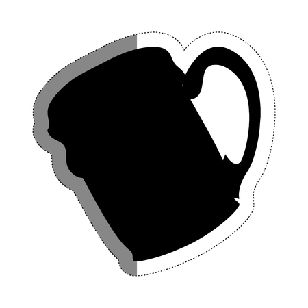 beer jar icon over white background. vector illustration Çizim