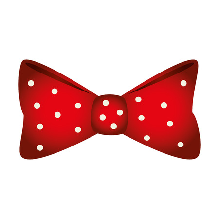 warm cloth: bow tie icon over white background. colorful design. vector illustration Illustration