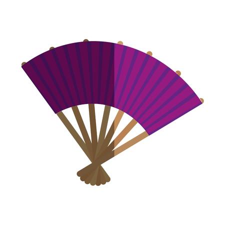 japanese culture fan icon vector illustration design