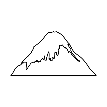 snowcapped mountain: fuji mount japanese icon vector illustration design
