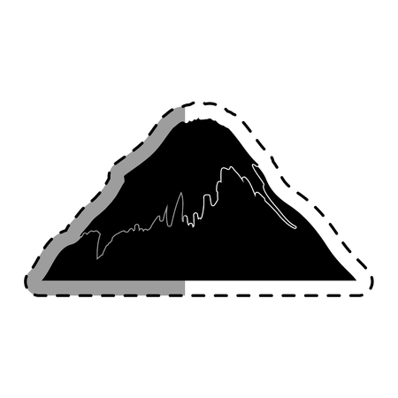 fuji mount japanese icon vector illustration design