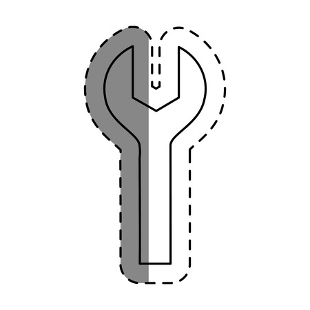 wrench key tool icon vector illustration design