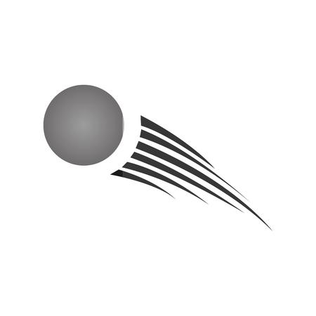 Diseño del ejemplo del vector del icono de la bola de ping pong Foto de archivo - 75453690