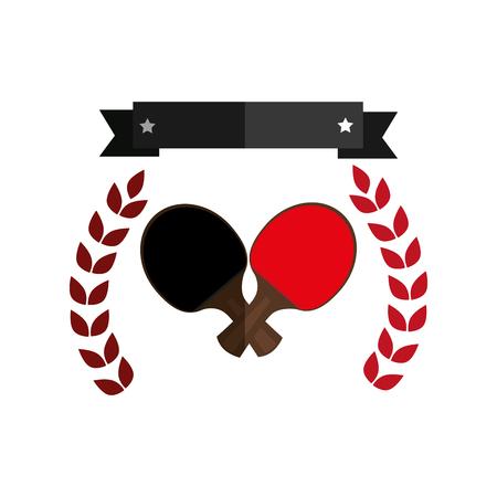 ping pong rackets emblem vector illustration design Illustration