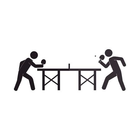 Ping pong speler avatar vector illustratie ontwerp