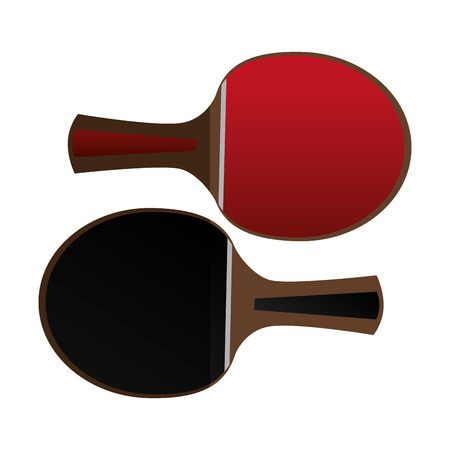 ping pong rackets equipment vector illustration design