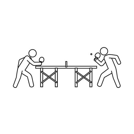 Ping pong player avatar vector illustration design.