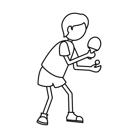 Ping pong player avatar vector illustration design.
