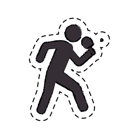 ping pong player avatar vector illustration design