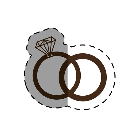 Engagement rings isolated icon vector illustration design