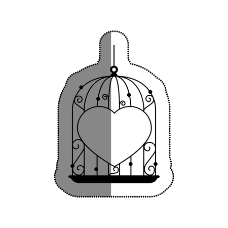 cage with heart icon vector illustration design
