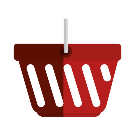 simple store: shopping basket isolated icon vector illustration design Illustration