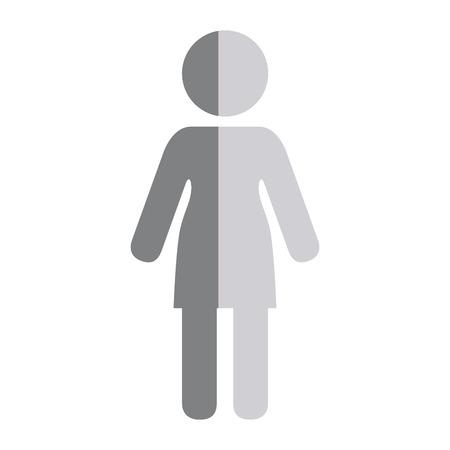 woman avatar figure silhouette icon vector illustration design Иллюстрация