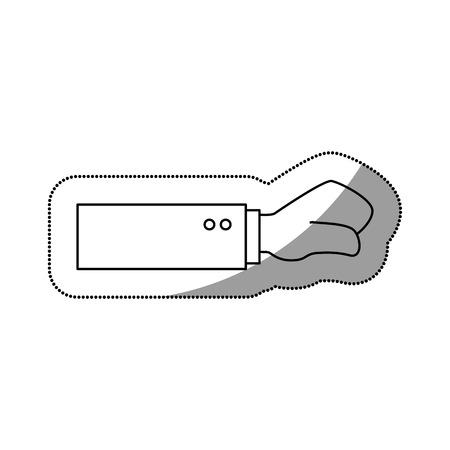 struggle: hand human fist isolated icon vector illustration design