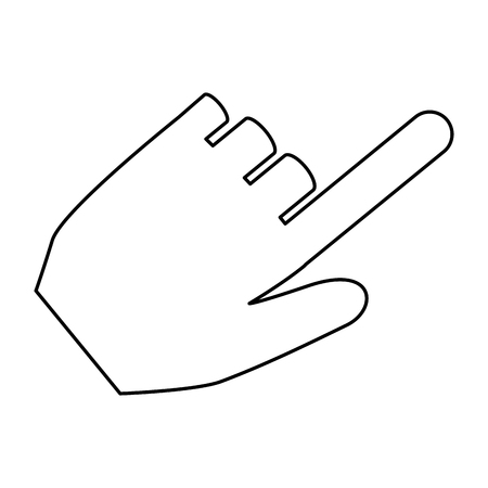hand human pointer icon vector illustration design
