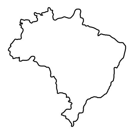 brazil map isolated icon vector illustration design