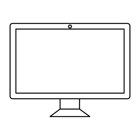 computer desktop with template icon vector illustration design