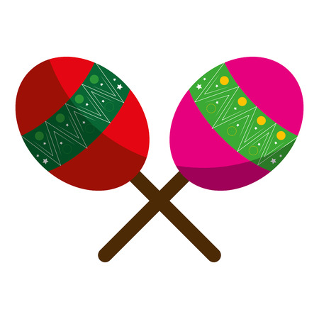 tropical maracas isolated icon vector illustration design Illustration