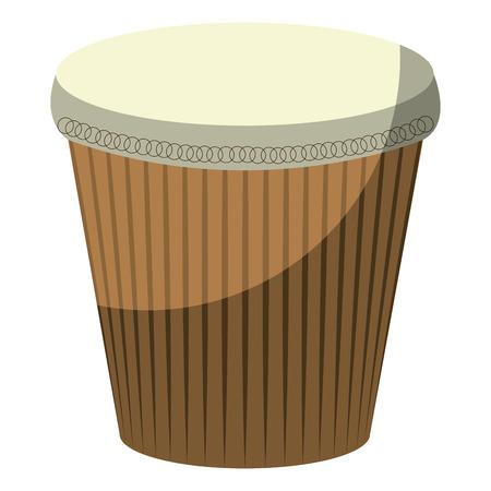 carnival bongo isolated icon vector illustration design Illustration