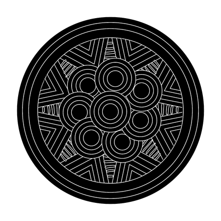 mandala art isolated icon vector illustration design Illustration