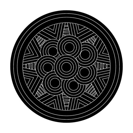 mandala art isolated icon vector illustration design Stock Photo