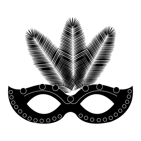 carnival mask isolated icon vector illustration design Illustration