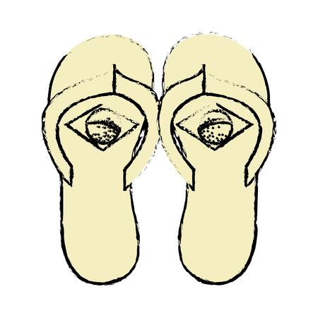 brazilian flip flops icon vector illustration design