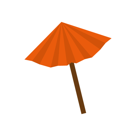 umbrella cocktail isolated icon vector illustration design