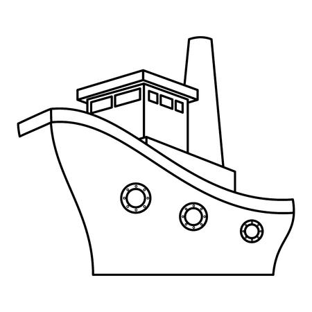 ship boat cruise icon vector illustration design Stok Fotoğraf - 75457848