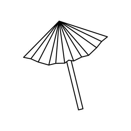 umbrella cocktail isolated icon vector illustration design
