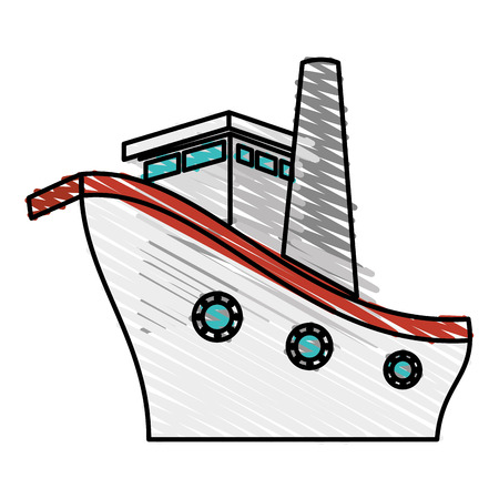 cruising: ship boat cruise icon vector illustration design Illustration