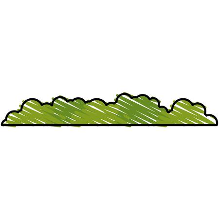 bush landscape isolated icon vector illustration design Illustration
